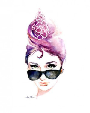 Watercolor Painting, Hepburn Icons, Icons Sunglasses, Originals ...