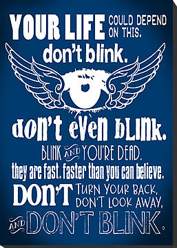 Doctor Who Inspired - Don't Blink Quote - Weeping Angels - Digital ...