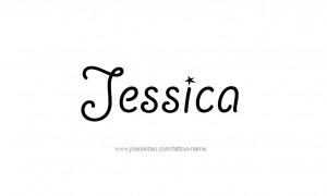 Jessica Name Tattoo Designs
