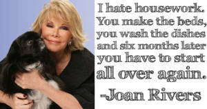 Joan Rivers on middle age.