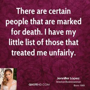 Jennifer Lopez Death Quotes