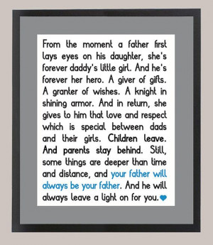 Wonder Year's Daddy's Girl Quote 11 x 14 by CadburysKeepsakes, $22.00