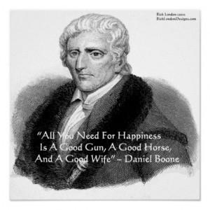 Daniel Boone & Humor Quote Poster