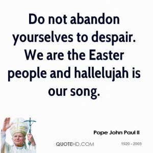 Pope John Paul Ii Quotes On Suffering Pope john paul