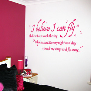 can fly -Wall Quote Stickers