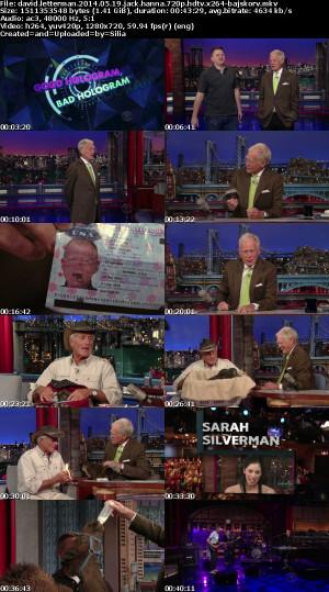 David Letterman 2014 05 19 Jack Hanna 720p HDTV x264-BAJSKORV