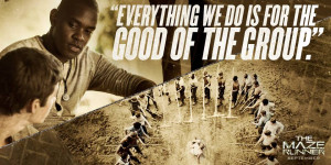 The Maze Runner Film Pic of Alby talking to Thomas
