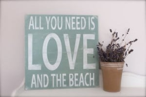 Wood Wall Art Wood Sign Beach Sign Beach Quote Quote by InMind4U, $51 ...