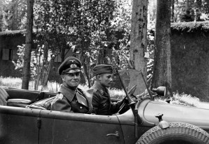 Field Marshal Erwin Rommel, commander of Army Group B in France, seen ...