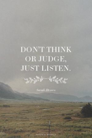 Just Listen Quotes Just Listen Sarah Dessen