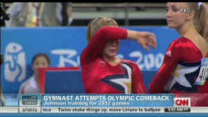 though she won't be able to compete at the Olympics this year, Johnson ...