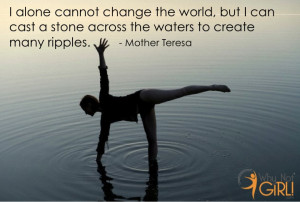 Mother Teresa Inspirational Quote on Community