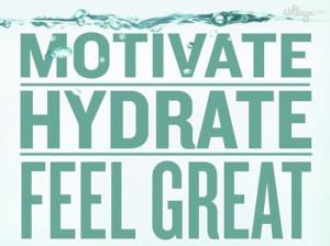 motivate, hydrate, feel great..