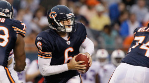 AP Photo/Nam Y. Huh Jay Cutler completed his only pass attempt and ...
