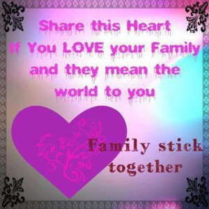 Family stick together