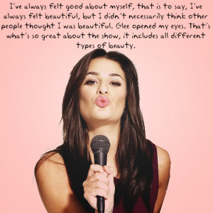 factsaboutyou:Lea Michele quote.