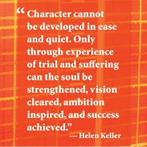 Inspirational quote from Helen Keller.
