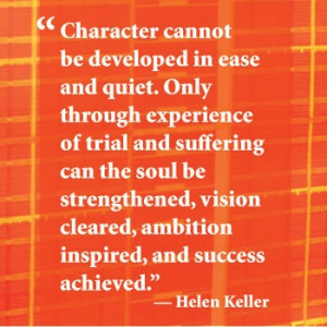 Inspirational quote from Helen Keller.