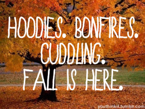 ... quotes Cuddling fall seasons hoodies teen quotes bonfires fall quotes