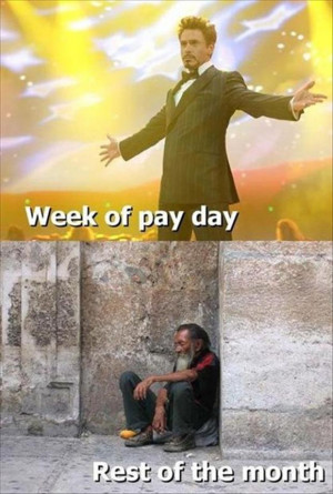 Week of payday vs End of the month