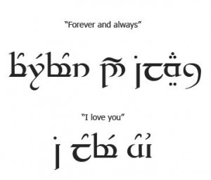 ideas tattoo elvish elvish scripts elvish tattoo couple tattoos elvish ...