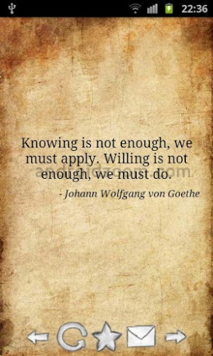 Knowing is not Enough We Must Apply Williing is not Enough We Must do ...