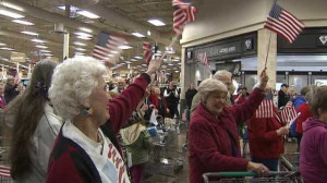 President's Day Flash Mob: Seniors Take To The Streets, Sing Patriotic ...