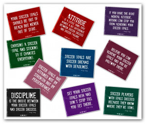 Our soccer posters with soccer motivational quotes are great for ...