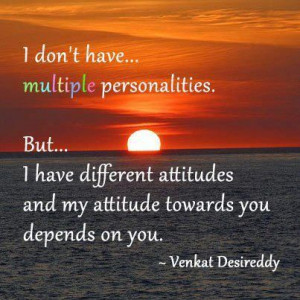 Don't Have Multiple Personalities