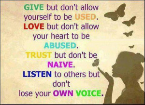 ... Wallpaper on lesson Of Life : Give but don't allow Yourself to be used