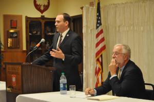 ... and Democratic Congressman Tim Bishop (right). (Credit: Grant Parpan