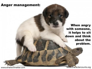 QUOTE & POSTER: Anger management: When angry with someone, it