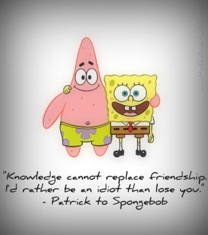 Knowledge cannot replace Friendship. I'd rather be an idiot than lose ...