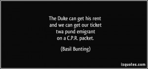 The Duke can get his rent and we can get our ticket twa pund emigrant ...