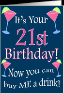21st Birthday Cosmo Humor card - Product #183343