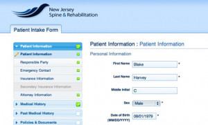 Clients New Jersey Spine and Rehabilitation Patient Intake Form
