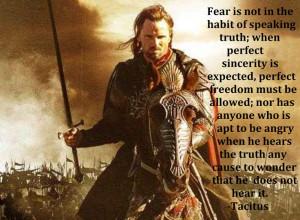 Seek truth. Speak truth. Tacitus quote.