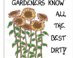Gardening Magnet - Gardener Quote, Humorous garden saying, Yellow ...