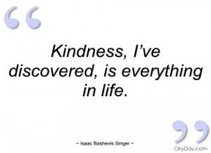 kindness isaac bashevis singer