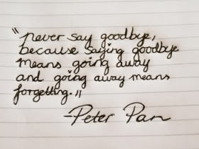 ... Means Going Away and Going Away Means Forgetting ~ Goodbye Quote