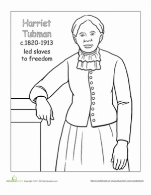 Harriet Tubman, American History, History Worksheets, Colors Harriet ...