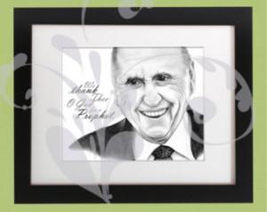 LDS Prophet, President Thomas S. Mo nson Pencil Sketch Portrait ...
