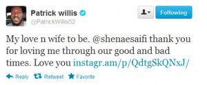 Patrick Willis Girlfriend Shenae Saifi