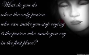 Sad Songs tears
