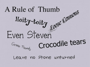 Rule of Thumb and Other American Phrases using Idiomatic Expressions