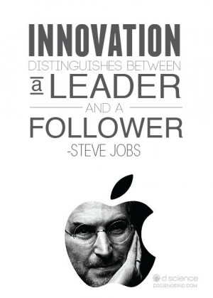 distinguishes between a leader and a follower.