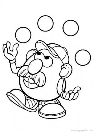 Mr potato head valentine quotes quotesgram for Potato head coloring pages