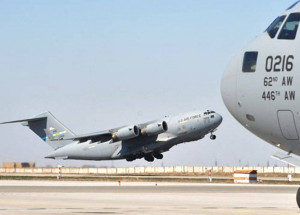 US military aircraft arrive in Liberia