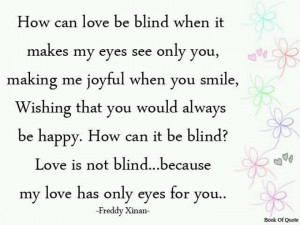 only have eyes for you.