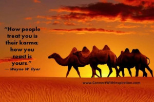 Wayne dyer quote how people treat you is their karma your reaction